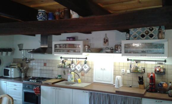 Kuchynská linka na chalupe